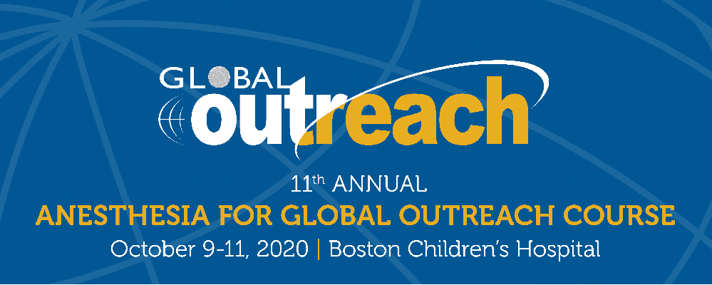 11th Annual Anesthesia for Global Outreach Course Banner