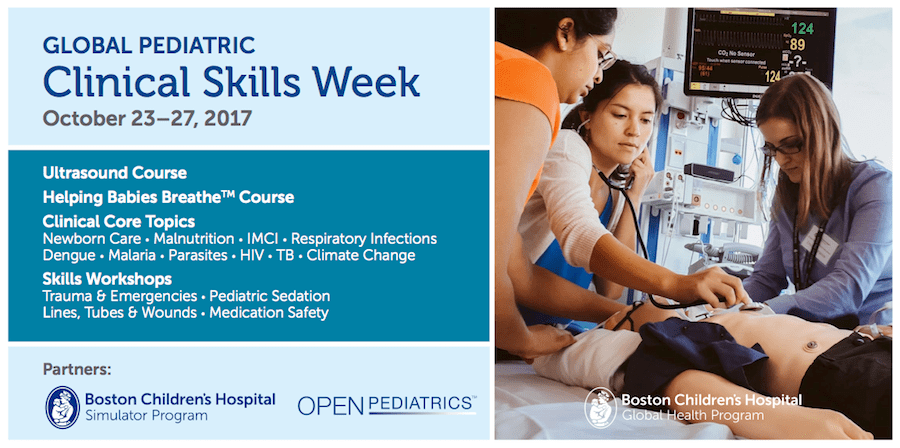 Global Pediatric Clinical Skills Week Banner
