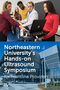 Northeastern University's Hands-on Ultrasound Symposium for Frontline Providers Banner