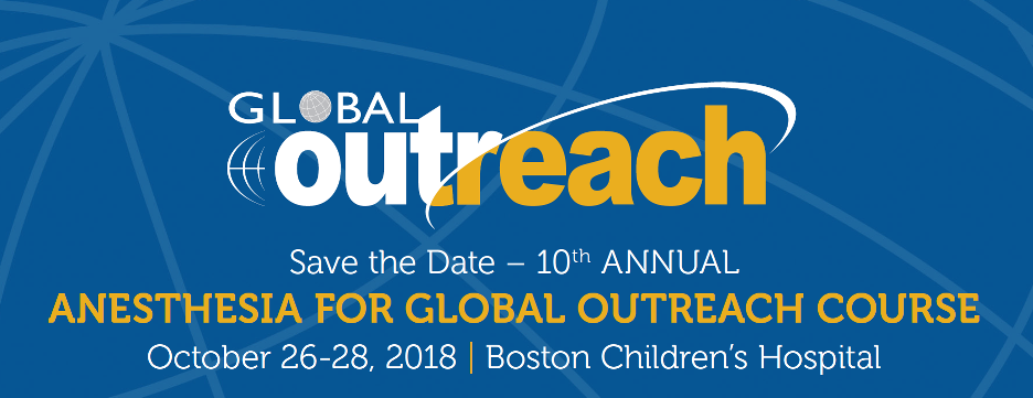 10th Annual Anesthesia for Global Outreach Course Banner